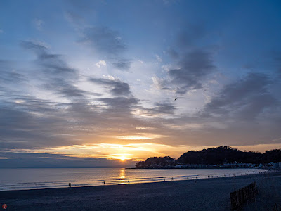 Sunset: Yuigahama-beach