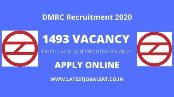 Delhi Metro Recruitment Online Form 2020, DMRC Job 2020, DMRC Recruitment 2020 Notification, DMRC Apply Online