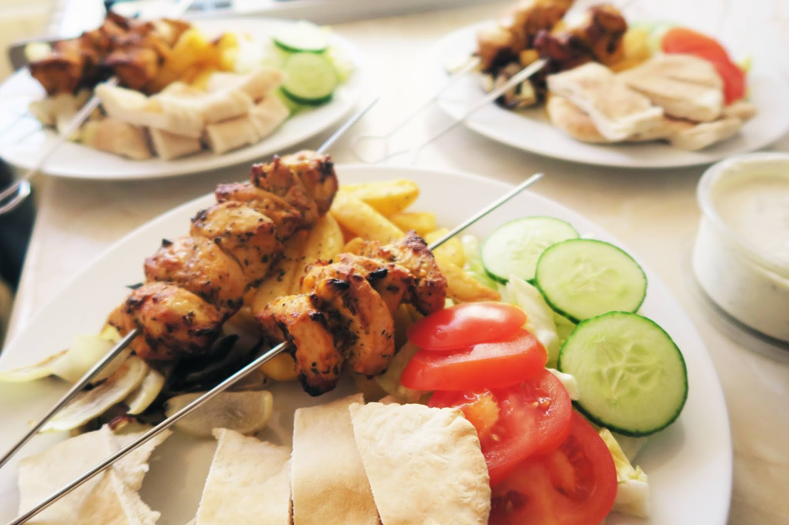 Photo of the chicken souvlaki I made