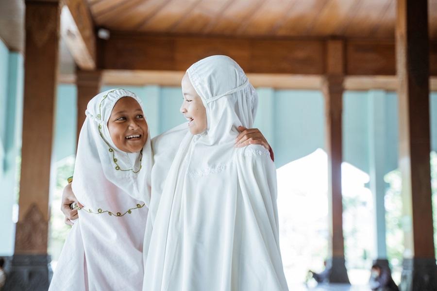 contoh pakaian mukena nusantara