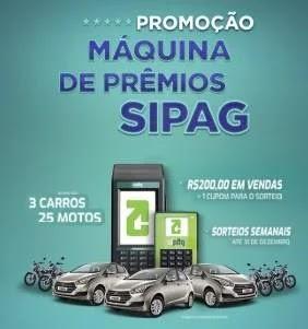 Promoção SIPAG 2019 Máquina de Prêmios 3 Carros e 25 Motos