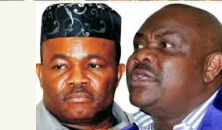 Gov. Wike Storms Joi Nunieh's House, Orders Heavily Armed Policemen Out (Video)