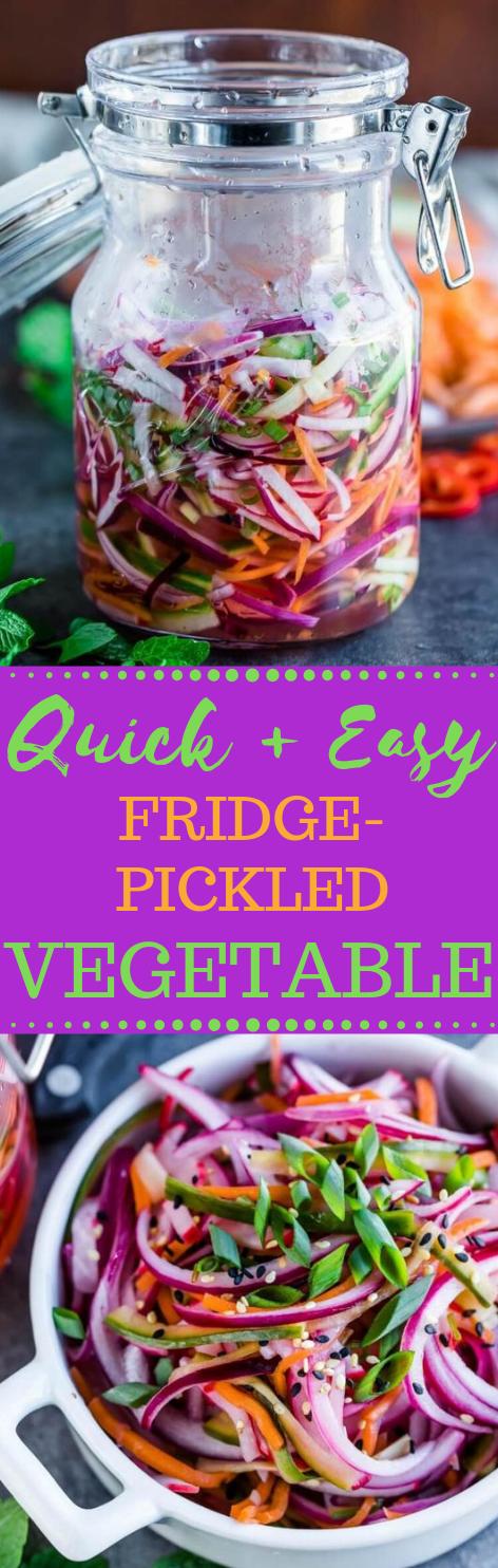 QUICK FRIDGE PICKLED VEGETABLES #vegetables #vegan #quick #easy #dinner