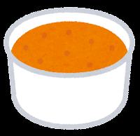 カップのアイスクリームのイラスト(オレンジ)
