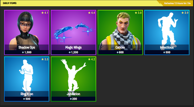 Fortnite Item Shop December 22, 2019