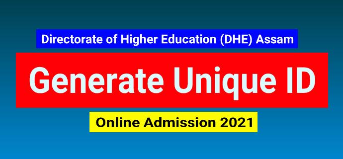 Assam Unique id generate