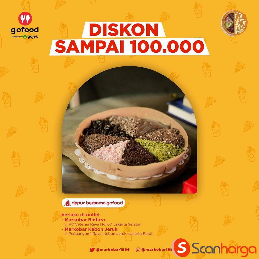 MARKOBAR Bintaro & Kebon Jeruk Promo DISKON Rp 100.000 via Aplikasi GOFOOD