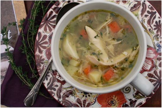 Garlicky Chicken Soup