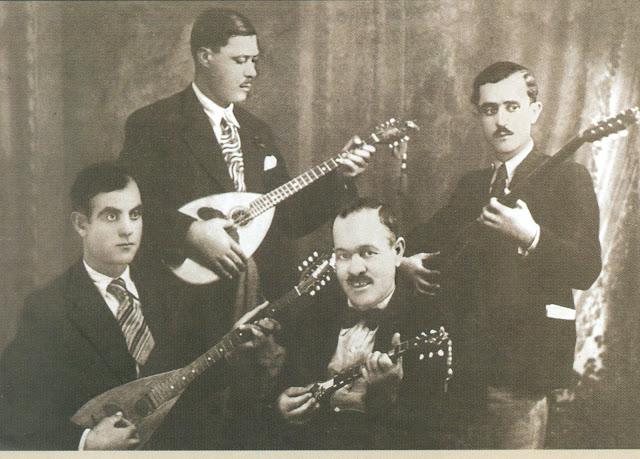 Four Rebetes  Stratos Payioumides, Markos Vamvakaris, Batis, and Anestis Dhelias.