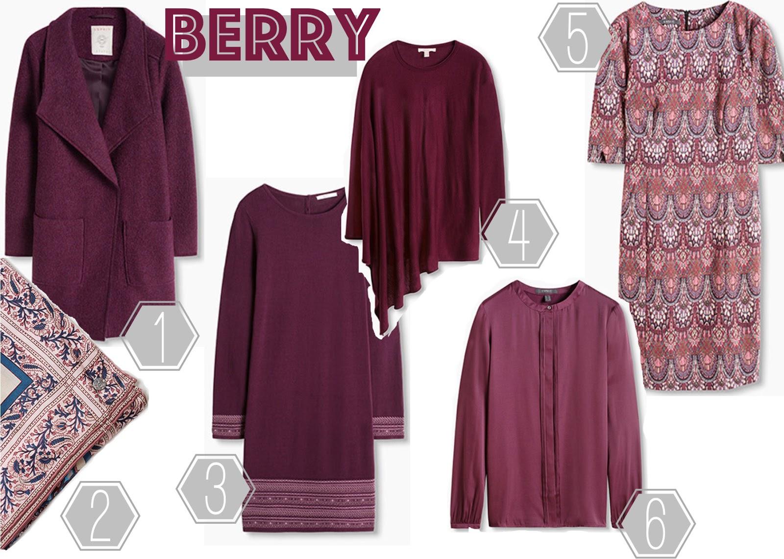 Berry Beerenfarbe Herbst Trendfarbe 2016 Herbsttrendfarbe Esprit