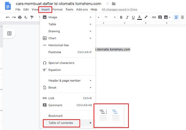 Cara Membuat Daftar Isi Otomatis Mudah, Cepat dan Tanpa Ribet tomsheru.com