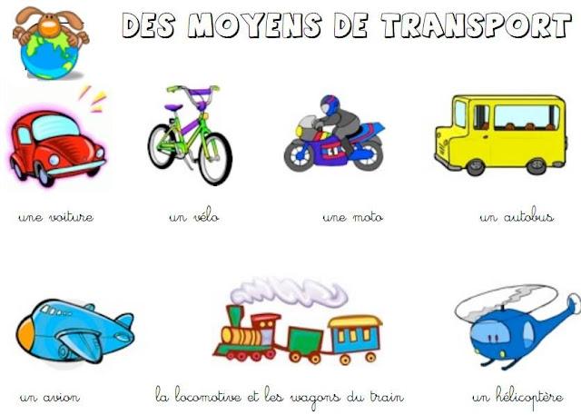 وسائل النقل بالفرنسية