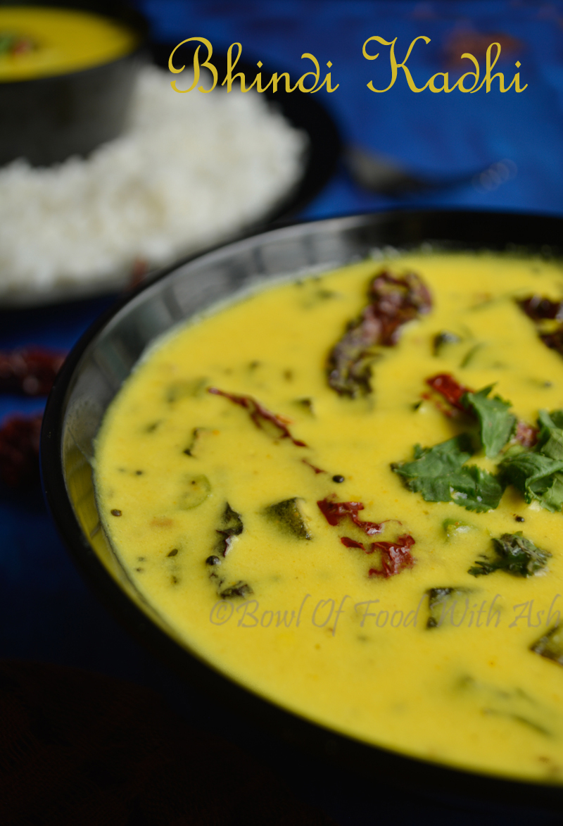Bhindi / Okra Kadhi Recipe | How to Make LadyFinger Kadhi Recipe
