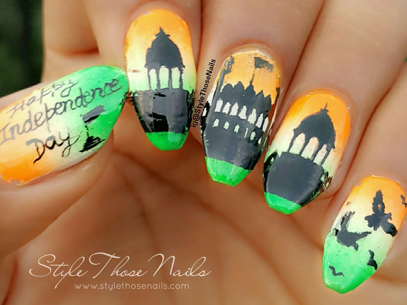 Today I Am Sharing Independence Day Nailart On 15th Of August We Indians Remember The Auious When Took Breath Freedom In 1947