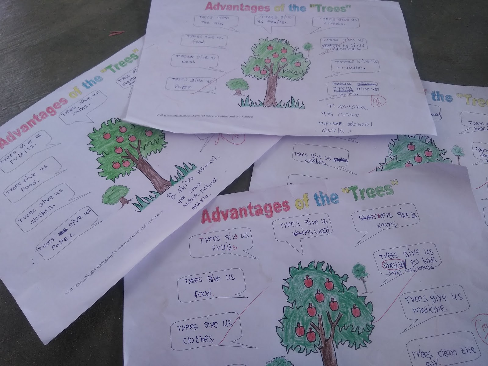 A Simple Primary Writing Task On Trees