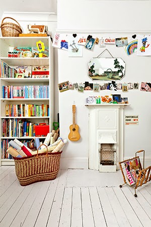 wooden floor library