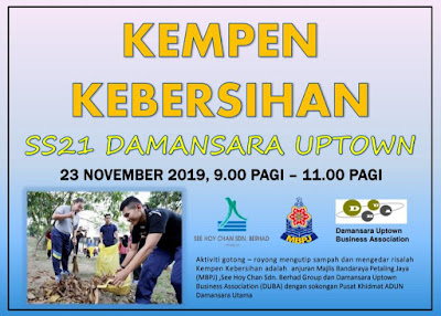 damansara utptown cleanliness campaign 2019 11 22