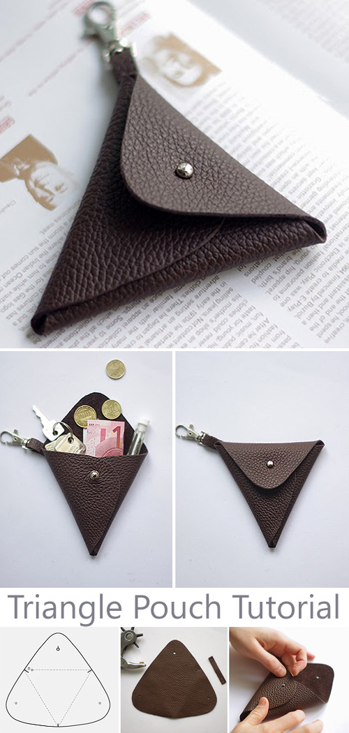 Triangle Leather Pouch Tutorial