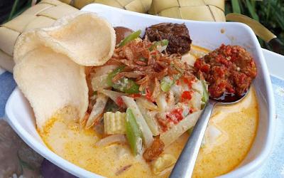 Kupat sayur khas lebaran''kuliner.com