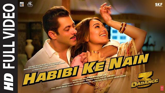 HABIBI KE NAIN LYRICS - Dabangg 3 | Salman Khan