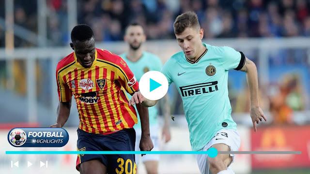 Lecce vs Inter – Highlights