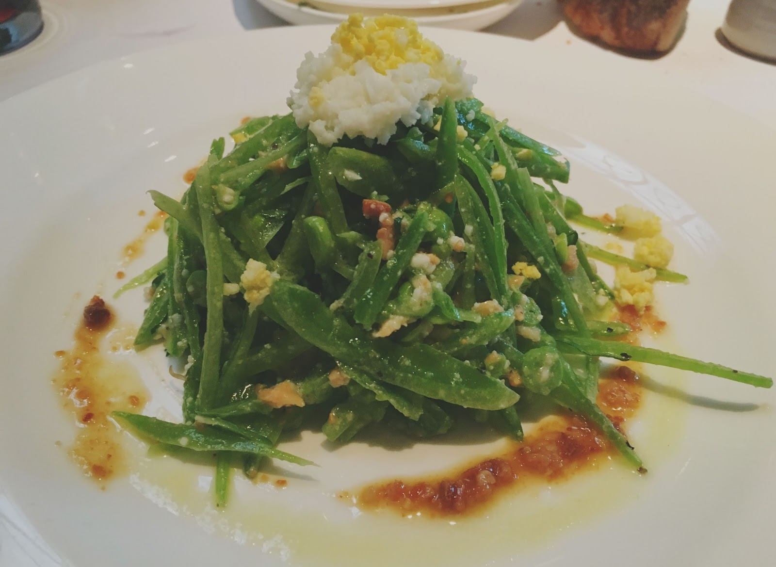 insalada di piselli at Bottega - a restaurant in Yountville, California