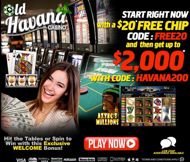 Old Havana Casino Welcome Offer: get $20 FREE plus 200% Match bonus