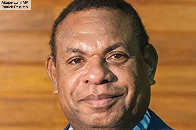 Aitape-Lumi MP Patrick Pruaitch