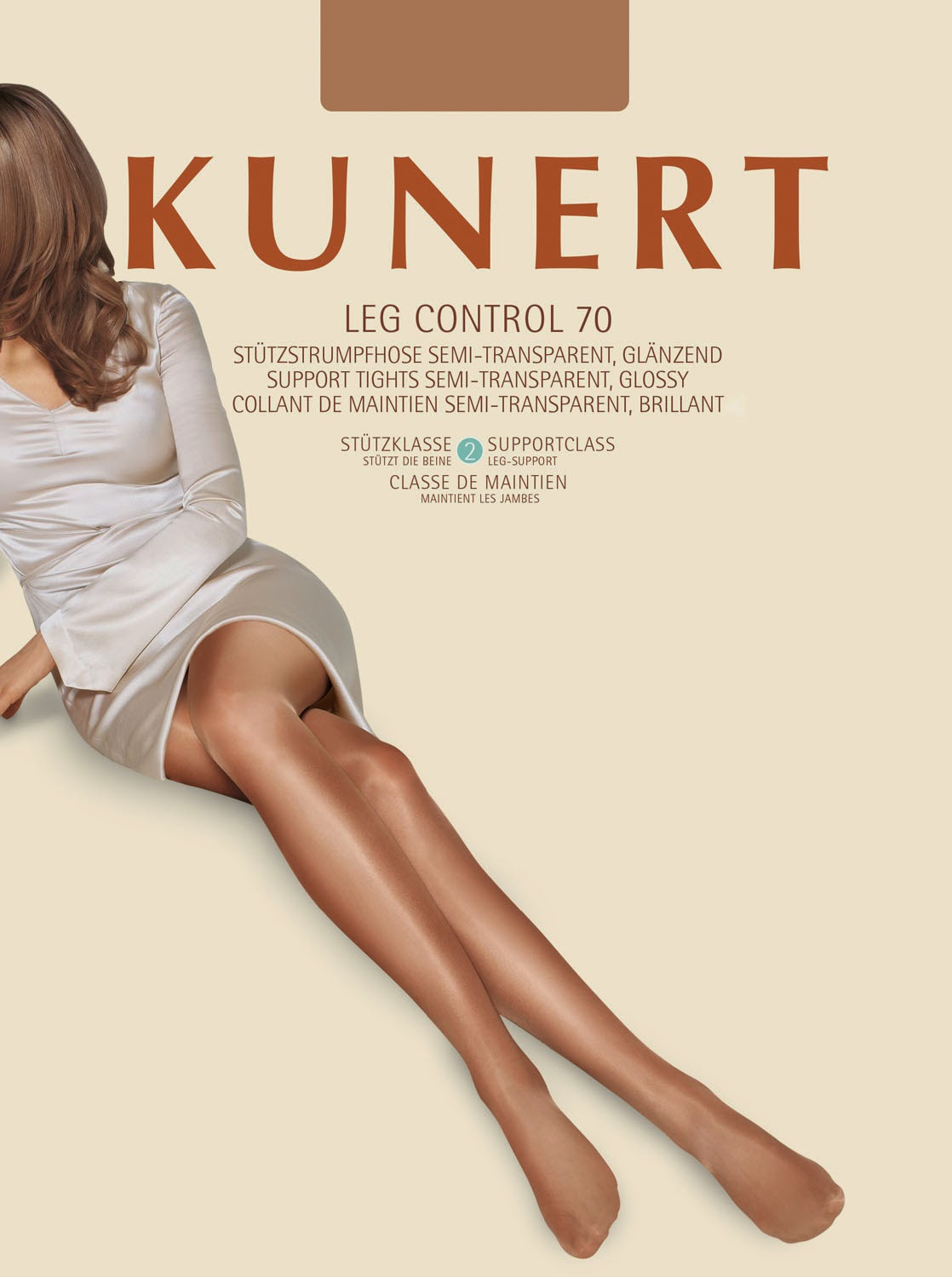 8e5bdf604 The Kunert Leg Control 70 Support Tights are nicely packaged. The tights  are carefully folded around a central rectangular card