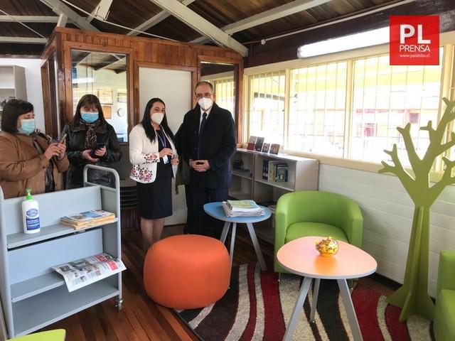 Inauguraron mejoramiento de Biblioteca de Rahue Alto