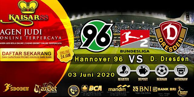 Prediksi Bola Terpercaya Liga Bundesliga 2 Hannover 96 vs Dynamo Dresden 03 Mei 2020