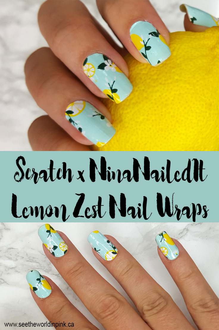 "Manicure Monday - Scratch x NinaNailedIt ""Lemon Zest"" Nail Wraps!"