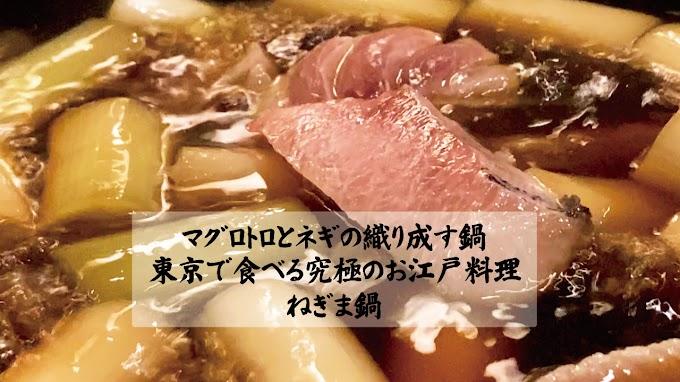 ねぎま鍋 マグロトロとネギの織り成す鍋 東京で食べる究極のお江戸料理
