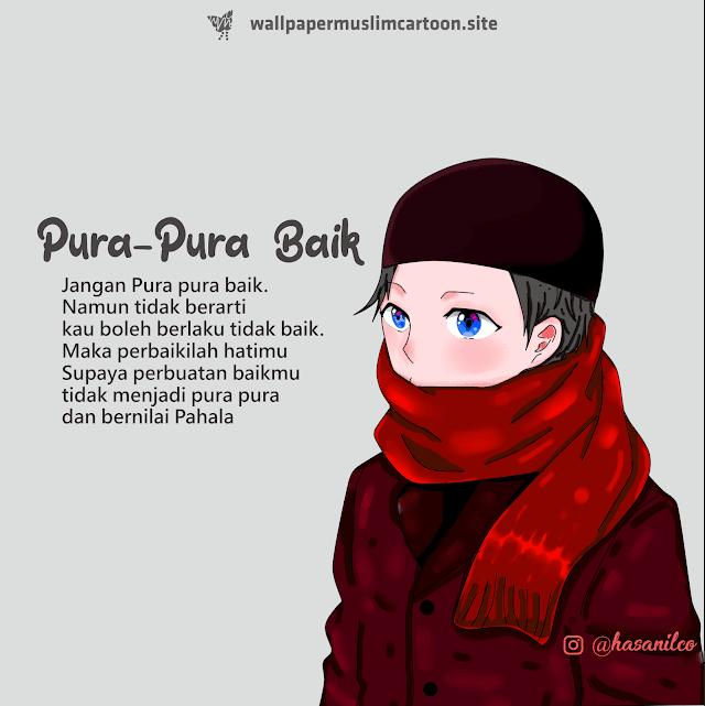 Gambar Kartun Muslim Muslimah Laki Laki HD | Pura Pura Baik
