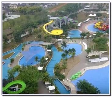 Lokasi Go Wet Waterpark.