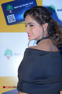 Actress Asmita Sood Pictures in Black Dress at Well Care Health Card Launch  0008.jpg