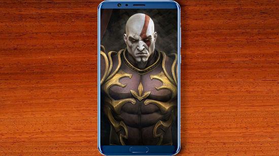 Kratos Avec Sa Belle Armure - QHD pour Mobile