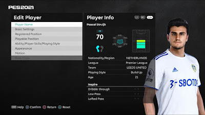 PES 2021 Faces Pascal Struijk by VN HUY BUI