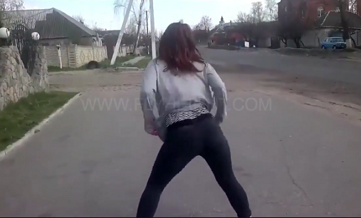 MUST SEE! This Girl Twerked Along the Side of the Road Causing a Serious Accident!