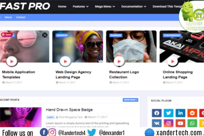 Download FastPro Blogger Template Free 2021