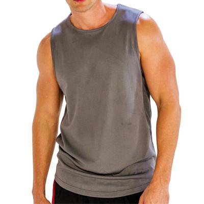 Grey Sleeveless Gym T-Shirt