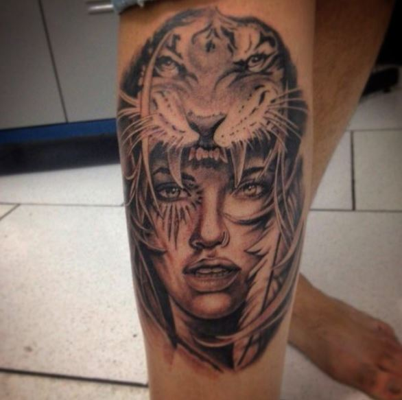 cool gangster tattoos females