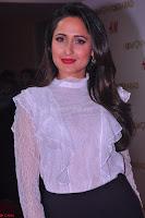 Pragya Jaiswal in lovely Black Mini Skirt and White Transparent Shirt ~  Exclusive 018.JPG