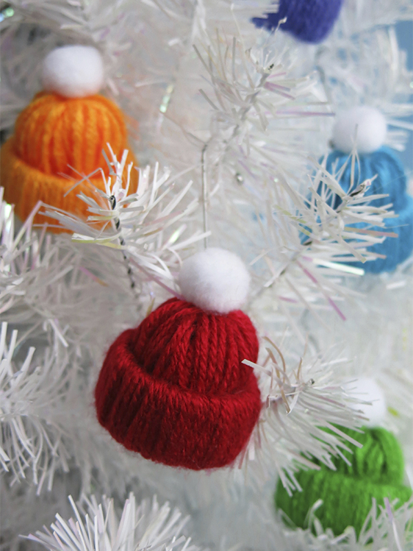 Mini Yarn Hat Christmas Ornament