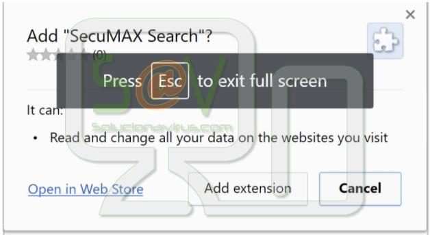 SecuMAX Search (Extensión)