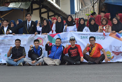 SMK Ciledug Al Musaddadiyah Kirab Obor Asian Game