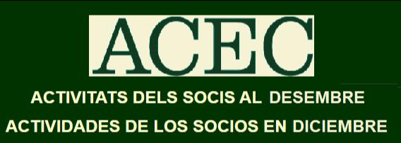AGENDA DESEMBRE DE L'ACEC