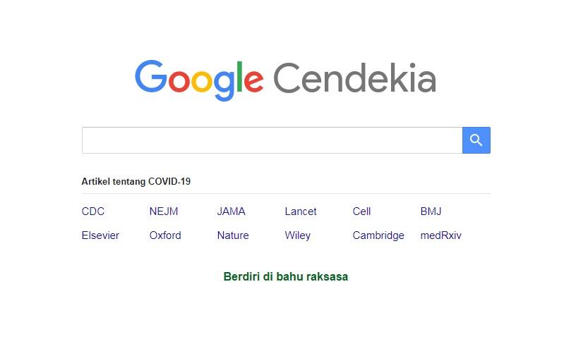 Mesin Pencari Google Cendikia