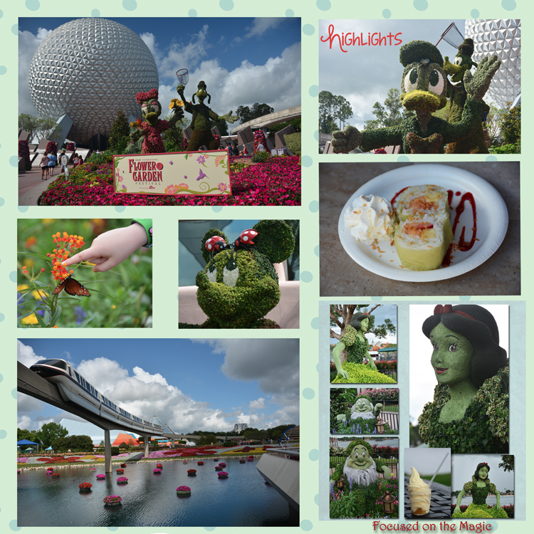 The Epcot Flower and Garden Festival in Walt Disney World in full bloom