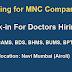 Walk-in For Doctors Hirings- Bds/bhms/mbbs,/bams/bpt For a MNC -mumbai